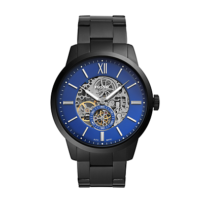 Townsman 48mm Automatic Black Stainless Steel Watch