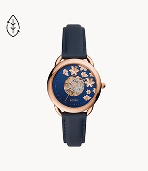 Tailor Automatic Blue Leather Watch