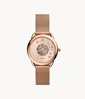 Tailor Automatic Rose Gold-Tone Stainless Steel Mesh Watch