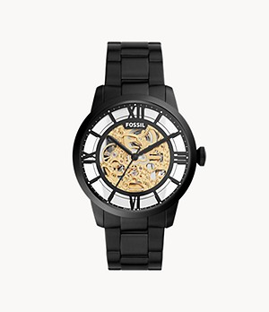 44mm Townsman Automatic Black Stainless Steel Watch