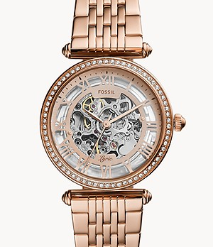 Lyric Automatic Rose Gold-Tone Stainless Steel Watch