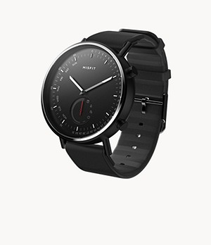 Misfit Command 44mm Jet with Black Sport Strap