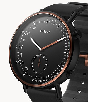 REFURBISHED Misfit Command 44mm Jet/Copper Tone with Black Sport Strap