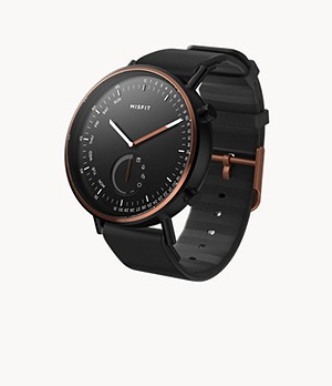 Misfit Command 44mm Jet/Copper Tone with Black Sport Strap