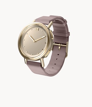 Misfit Path 36mm Champagne with Lavender Sport Strap