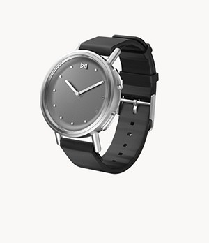 REFURBISHED Misfit Path 36mm Stainless Steel with Black Sport Strap