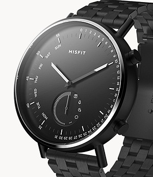 Misfit Command 44mm Jet with Jet Stainless Steel Bracelet