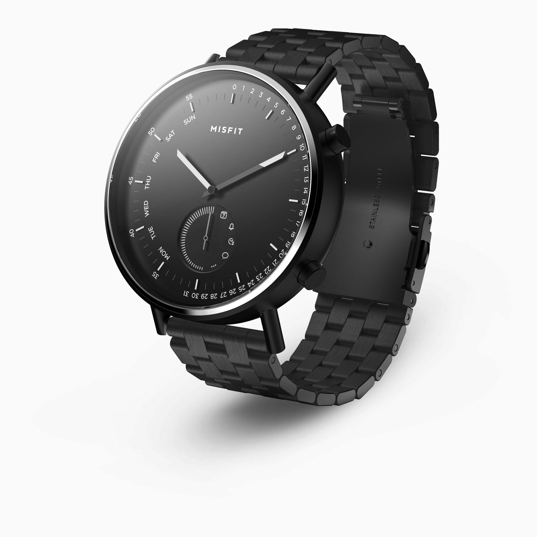 Misfit Command Hybrid Smartwatch (Black on Bracelet)