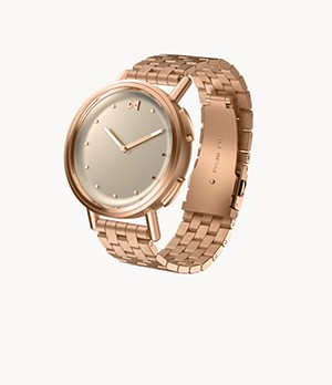 Misfit Path 36mm Rose Tone with Rose Tone Stainless Steel Bracelet