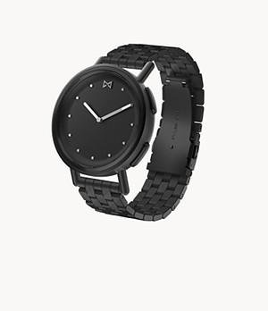 Misfit Path 36mm Jet with Jet Stainless Steel Bracelet