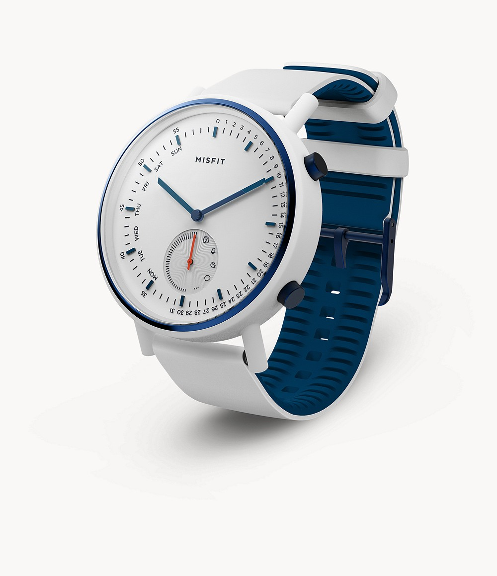 And Silicone Command 45mm With Misfit White Navy Strap MUVSzp