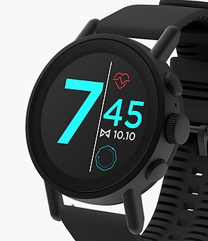 Misfit Vapor X 42mm Black with Jet Silicone Strap