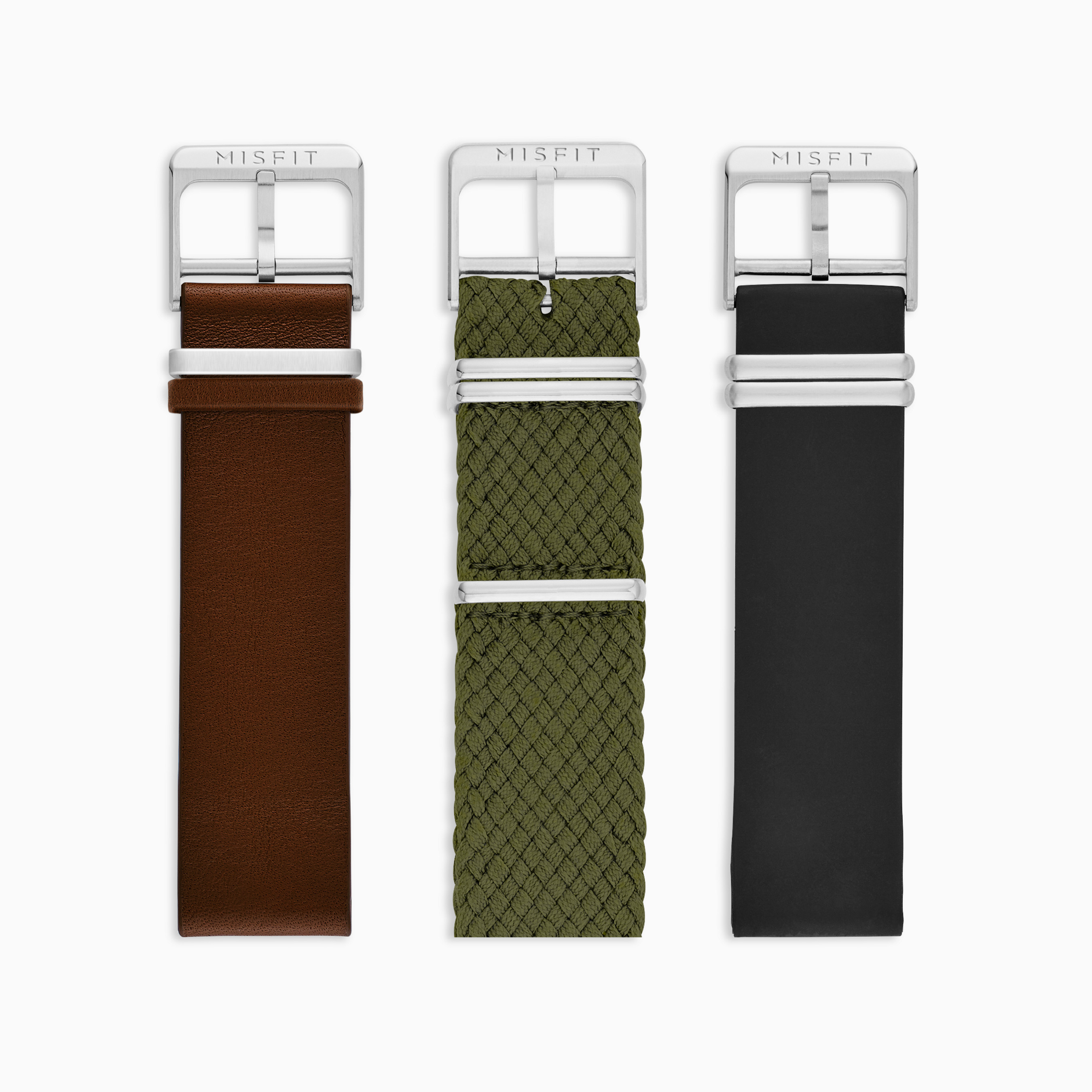 20mm Misfit Smartwatch Armbänder 3er Pack