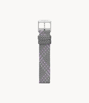 16mm Misfit Smartwatch Gray Multi-Color Nylon Strap