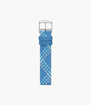 16mm Misfit Smartwatch Cornflower Blue Multi-Colour Nylon Strap
