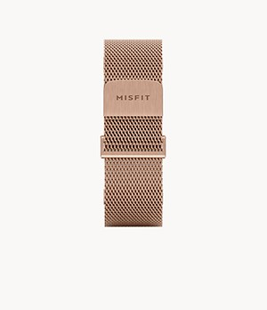20mm Misfit Smartwatch Rose-Tone Magnetic Milanese Mesh Strap
