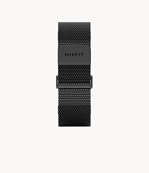Misfit 20mm Smartwatch Jet Black Magnetic Milanese Mesh Band