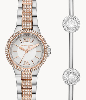 Michael Kors Petite Camille Watch and Bracelet Gift Set