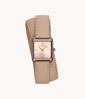 Michael Kors Women's Lake Two-hand Brown Leather Watch