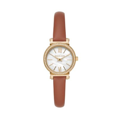 Michael Kors Petite Sofie Two-Hand Luggage Leather Watch - MK2896 - Watch Station