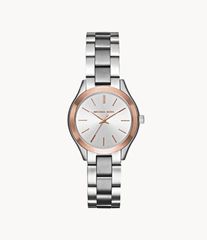 Michael Kors Women's Mini Slim Runway Three-Hand Stainless Steel Watch