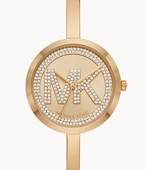 Michael Kors Women's Blakely Three-Hand Gold-Tone Stainless Steel Watch
