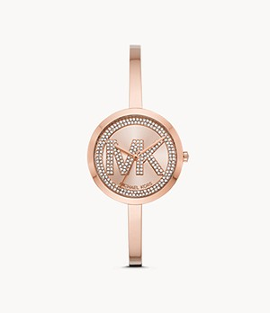 Michael Kors Women's Blakely Three-Hand Rose Gold-Tone Stainless Steel Watch