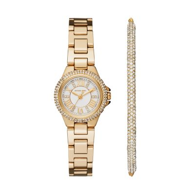 Michael Kors Camille Three-Hand Gold-Tone Stainless Steel Watch - MK3653 - Watch Station