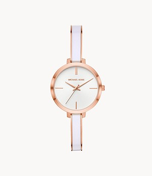 Michael Kors Women's Jaryn Three-Hand Rose Gold-Tone Stainless Steel Watch