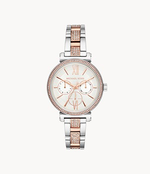 Michael Kors Women's Sofie Multifunction Two-Tone Stainless Steel Watch