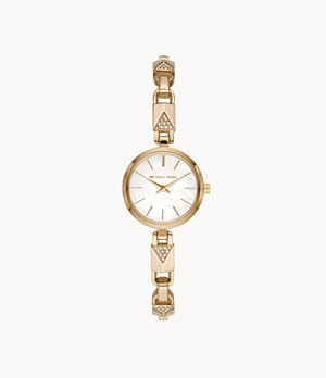 Michael Kors Jaryn Mercer Two-Hand Gold-Tone Stainless Steel Watch