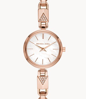 Michael Kors Jaryn Mercer Two-Hand Rose Gold-Tone Stainless Steel Watch