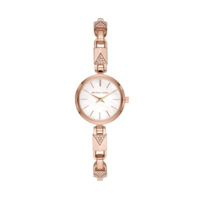 Michael Kors Jaryn Mercer Two-Hand Rose Gold-Tone Stainless Steel Watch - MK4440 - Watch Station