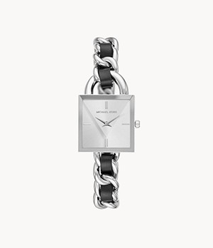 Michael Kors MK Chain Lock Two-Hand Two-Tone Stainless Steel Watch