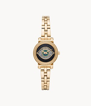 Michael Kors Sofie Two-Hand Gold-Tone Stainless Steel Watch