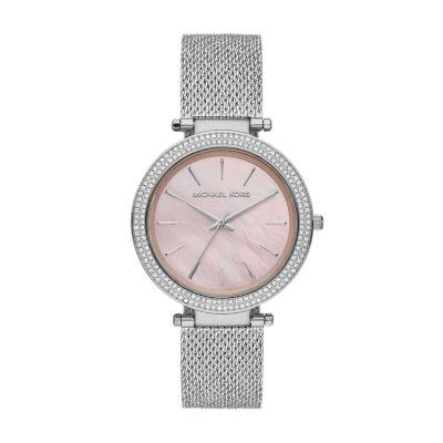 Michael Kors Darci Three-Hand Silver Crystal Watch - MK4518 - Watch Station