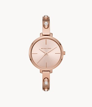 Michael Kors Jaryn Three-Hand Rose Gold-Tone Stainless Steel Watch