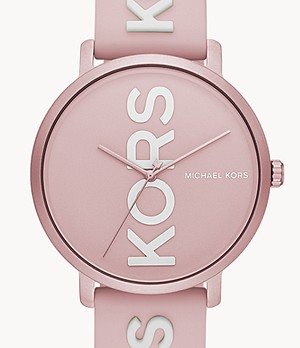 Michael Kors Charley Three-Hand Soft Pink Silicone Watch