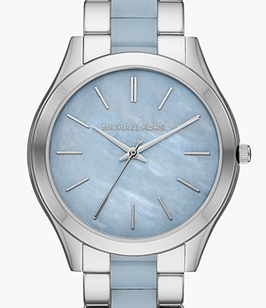Michael Kors Slim Runway Three-Hand Stainless Steel Watch