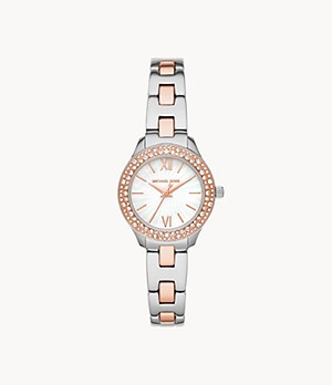 Michael Kors Liliane Three-Hand Rose Two-Tone Stainless Steel Watch