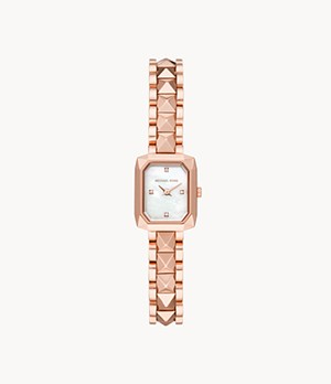 Michael Kors Alane Two-Hand Rose Gold-Tone Stainless Steel Watch