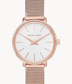 Michael Kors Pyper Two-Hand Rose Gold-Tone Stainless Steel Watch