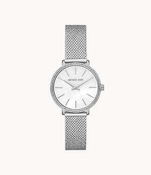 Michael Kors Pyper Two-Hand Stainless Steel Watch