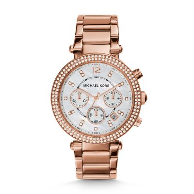 Michael Kors Parker Chronograph Rose Gold-Tone Stainless Steel Watch - MK5491 - Watch Station