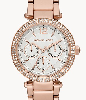 Michael Kors Women's Parker Multifunction Rose Gold-Tone Steel Watch