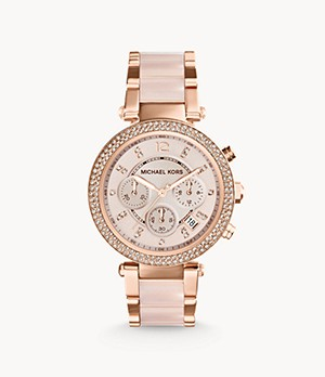 Michael Kors Rose Gold-Tone Parker Watch