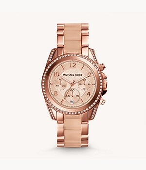 Michael Kors Rose Gold-Tone Blair Glitz Watch