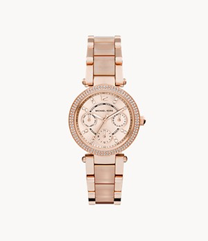 Michael Kors Rose Gold-Tone Mini Parker Watch