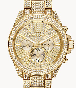 Michael Kors Wren Three-Hand Gold-Tone Stainless Steel Watch