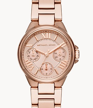 Michael Kors Women's Mini Bailey Multifunction Rose Gold-Tone Stainless Steel Watch